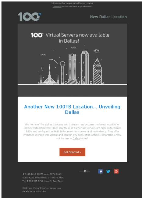 Our Newest Virtual Server Location: Dallas!